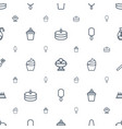 cream icons pattern seamless white background vector image vector image