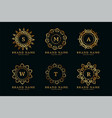 decorative golden mandala style logos with vector image