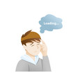 depression symptoms trouble concentrating vector image