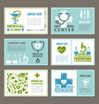 different cards with designs template at theme of vector image vector image