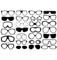 Different eyeglasses isolated vector