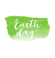 Earth day hand written inscription vector image