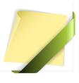 empty green corner vector image