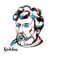 epictetus portrait vector image vector image