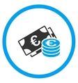 Euro Cash Circled Icon vector image