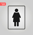 female icon woman toilet icon sex vector image vector image