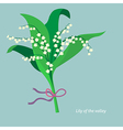 Flat design Lily of the valley vector image