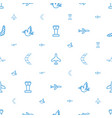 flight icons pattern seamless white background vector image vector image