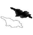 georgia map vector image vector image