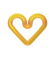 golden heart icon isolated on light background vector image vector image