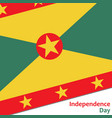 grenada independence day vector image