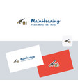 guns logotype with business card template elegant vector image vector image