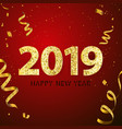 happy new year 2018 background greeting card vector image
