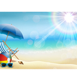 Holiday background on beach vector image
