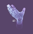 human arm hand model connection structure future vector image vector image