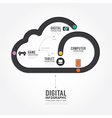 Infographic Technology digital line concept vector image vector image