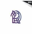 initial pq logo monogram design template simple vector image vector image