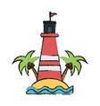 island beach lighthouse vector image vector image
