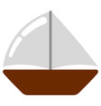 isoalted sailboat icon vector image