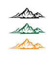 landscape nature or outdoor mountain silhouette vector image vector image