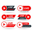 live streaming stickers vector image vector image