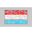 Luxembourg flag design concept vector image
