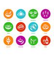 Menu round icons vector image