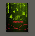 merry christmas and happy new year poster cover vector image vector image