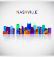 nashville skyline silhouette in colorful vector image vector image