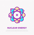 nuclear energy thin line icon vector image