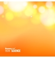Orange abstract bokeh vector image vector image
