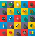 Paintball icons set flat style