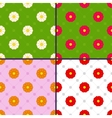 patterns with daisies vector image vector image
