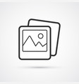 photo flat line trendy black icon eps10 vector image vector image