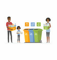 recycling concept - modern cartoon people vector image vector image