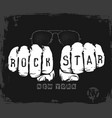 rock star graphic design t-shirt vector image vector image
