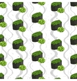 Seamless pattern of sushi vector image vector image