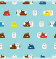 shit and toilet paper pattern seamless turd and vector image vector image