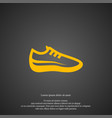 sneaker icon simple shoe element trainers symbol vector image
