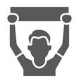 soccer fan glyph icon sport and person football vector image