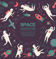 space adventurecosmic objects symbols and design vector image