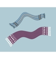 Striped Scarf Isolated vector image