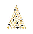 stylized christmas tree isolated on white backdrop vector image