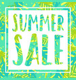 summer sale tropical style banner vector image vector image