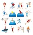 Summer sport cartoon icons set vector image vector image