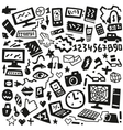 technology doodles vector image vector image