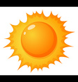 The hot sun vector image