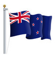 waving new zealand flag isolated on a white vector image vector image