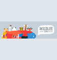 wildlife day web banner of happy animal friends vector image