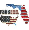 USA state of Florida on a brick wall vector image